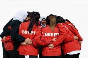 Egypt's national women's basketball team. [Source].