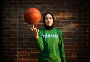 Basketball player Indira Kaljo. [Source].