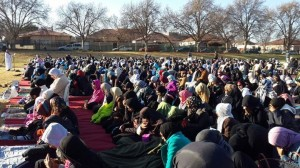 Eid prayers at Masjid ul Islam, Johannesburg.