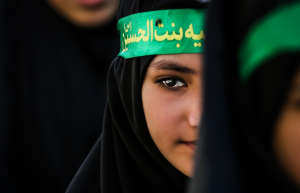 A Shi'ite girl attends a celebration of Ashura, last Tuesday in Bahrain. Image by Sayedoo BH/Demotix/Corbis