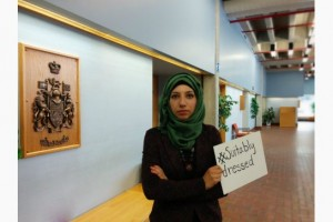 Amna Qureshi #SuitablyDressed. Image via the Toronto Star.