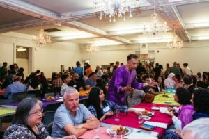 An image from the unity iftar in Toronto. Via Now Magazine.
