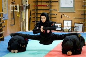 Ninja women in Iran. [Source].